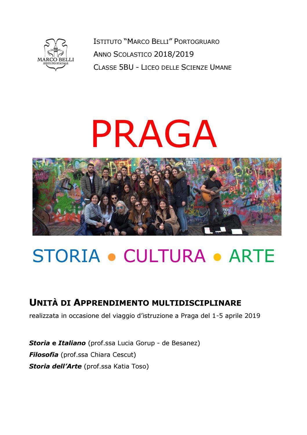 Praga Storia Cultura E Arte By Liceo Marco Belli Issuu