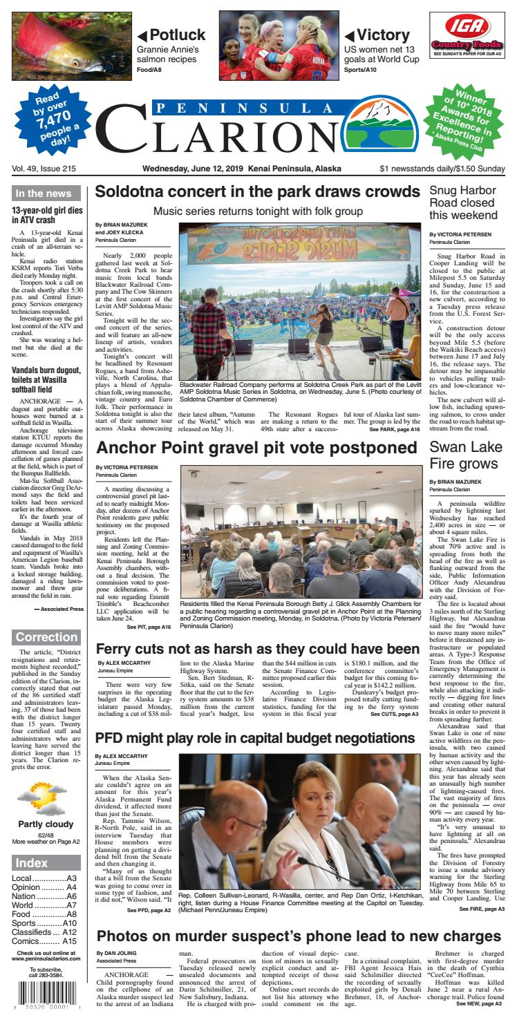 Peninsula Clarion, June 12, 2019 by Sound Publishing - issuu
