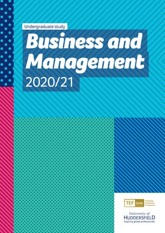 Business and Management - Undergraduate Study 2020/21 by