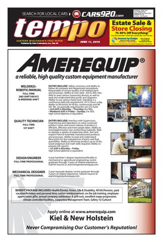 Tempo for Week of June 11, 2019 by Delta Publications - issuu