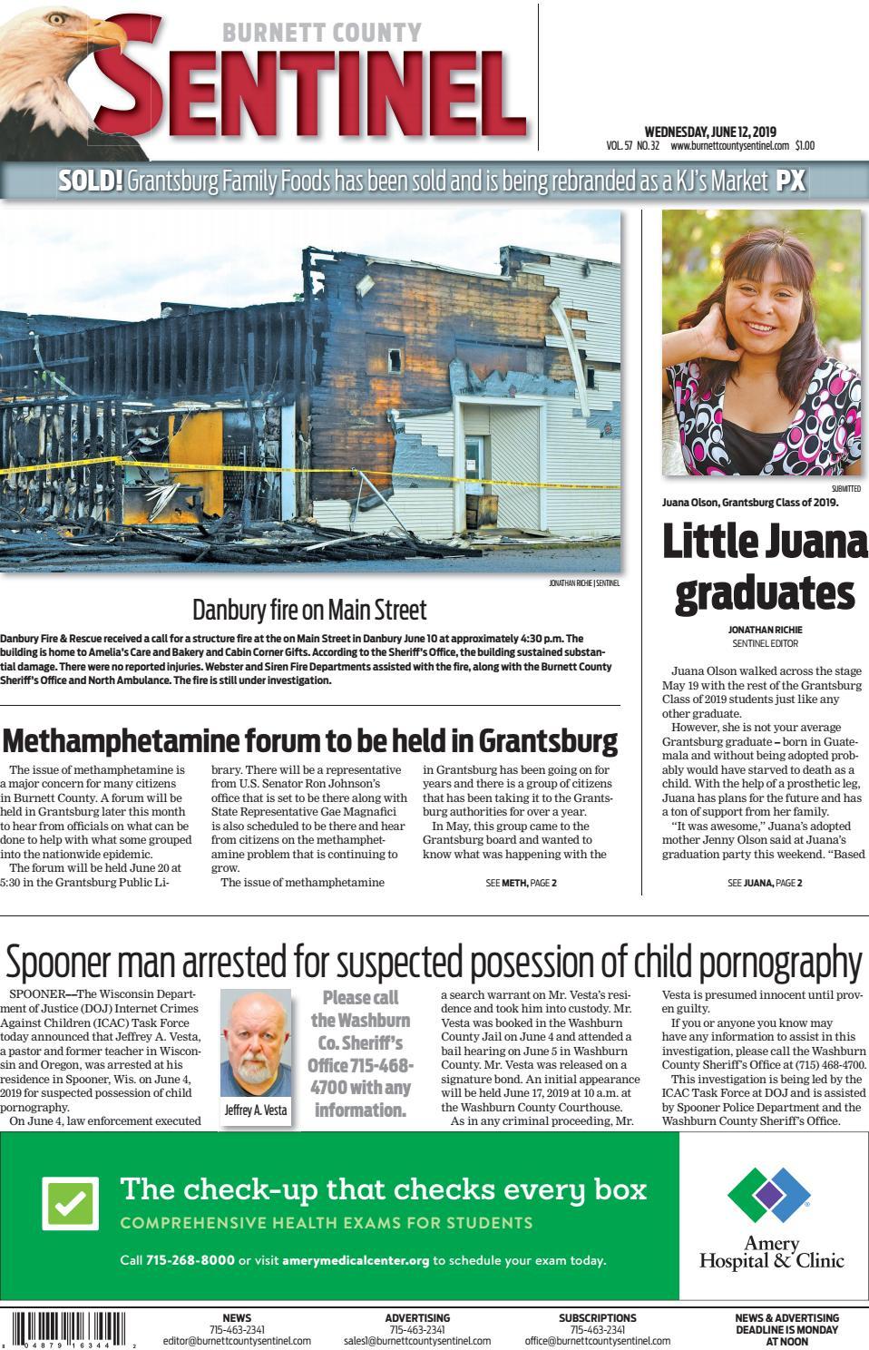 The Burnett County Sentinel 06-12-2019 by Burnett County Sentinel