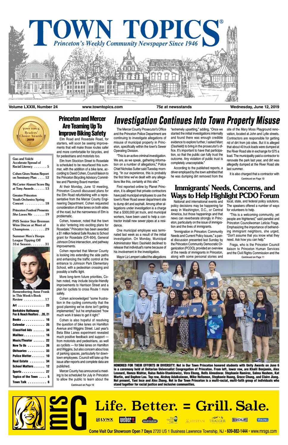 Town Topics Newspaper June 12, 2019 by Witherspoon Media Group - issuu