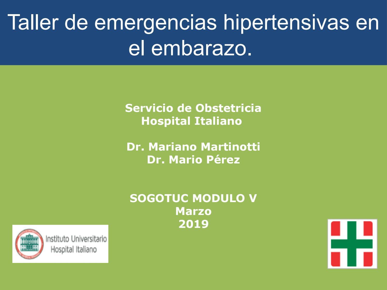 Crisis hipertensiva urgente