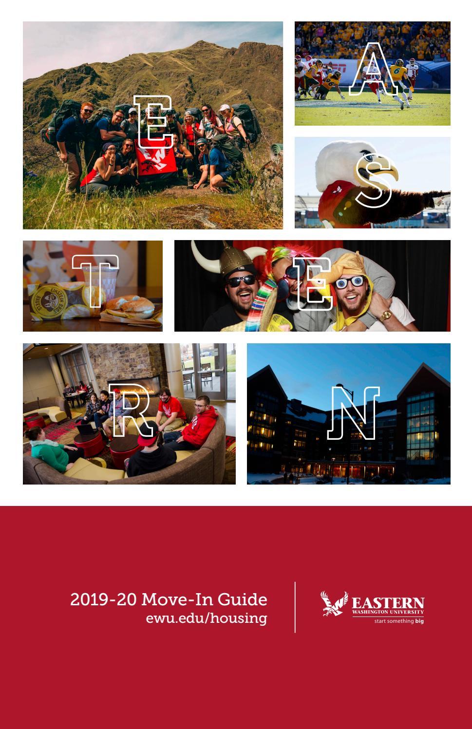 Ewu Christmas Break 2020 2019 2020 EWU Move in Guide by Eastern Washington University   issuu