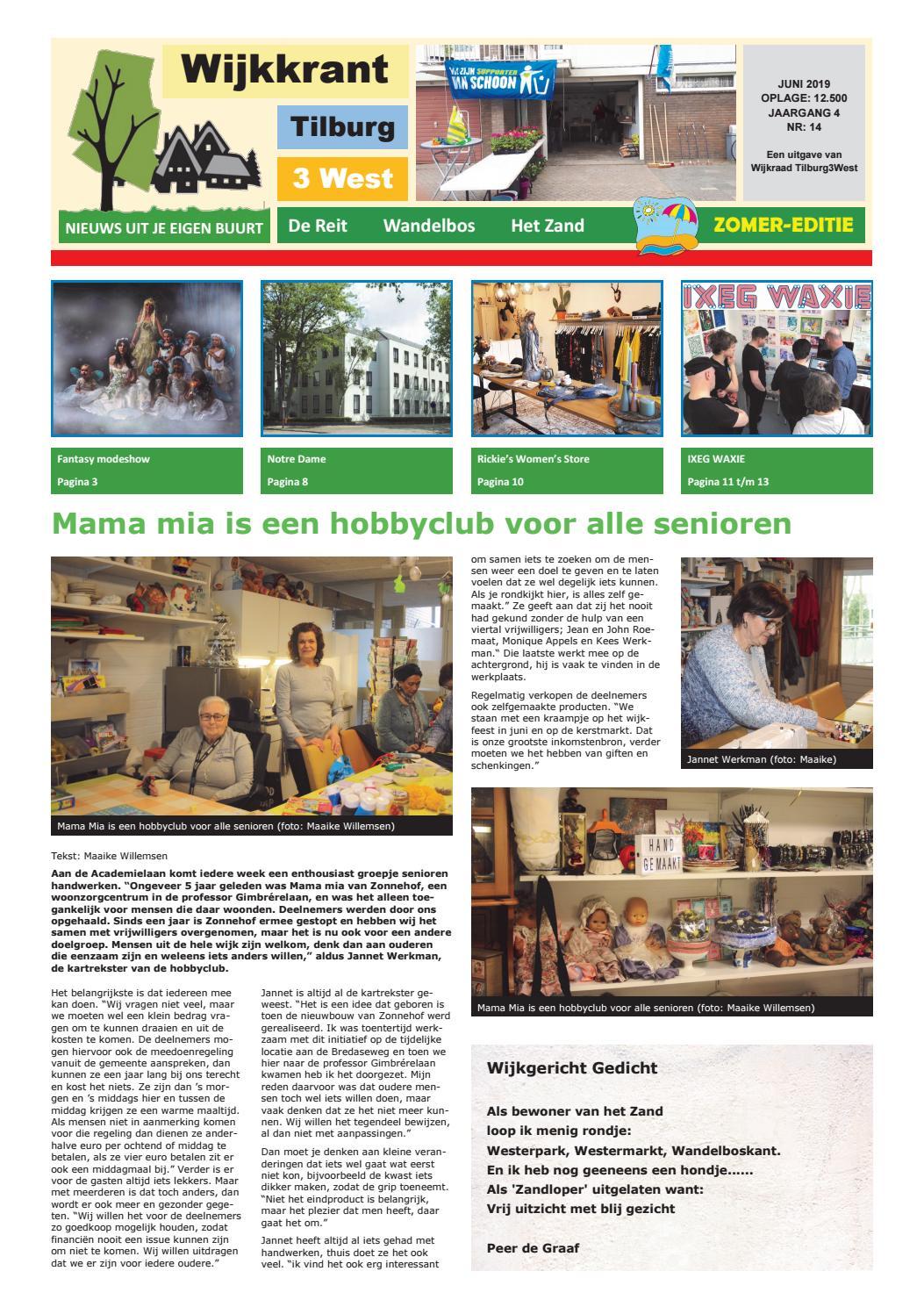 Wijkkrant zomer editie juni 2019 by Wijkraad Tilburg 3 West
