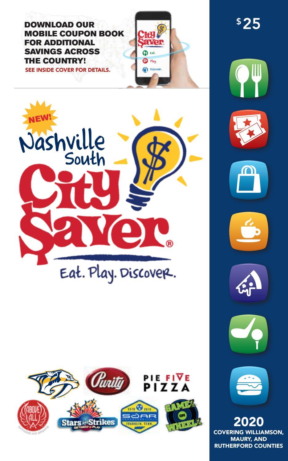 2020 Nashville South City Saver Coupon Book By Southwestern