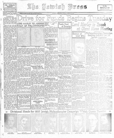 April 23 1937 By Jewish Press Issuu