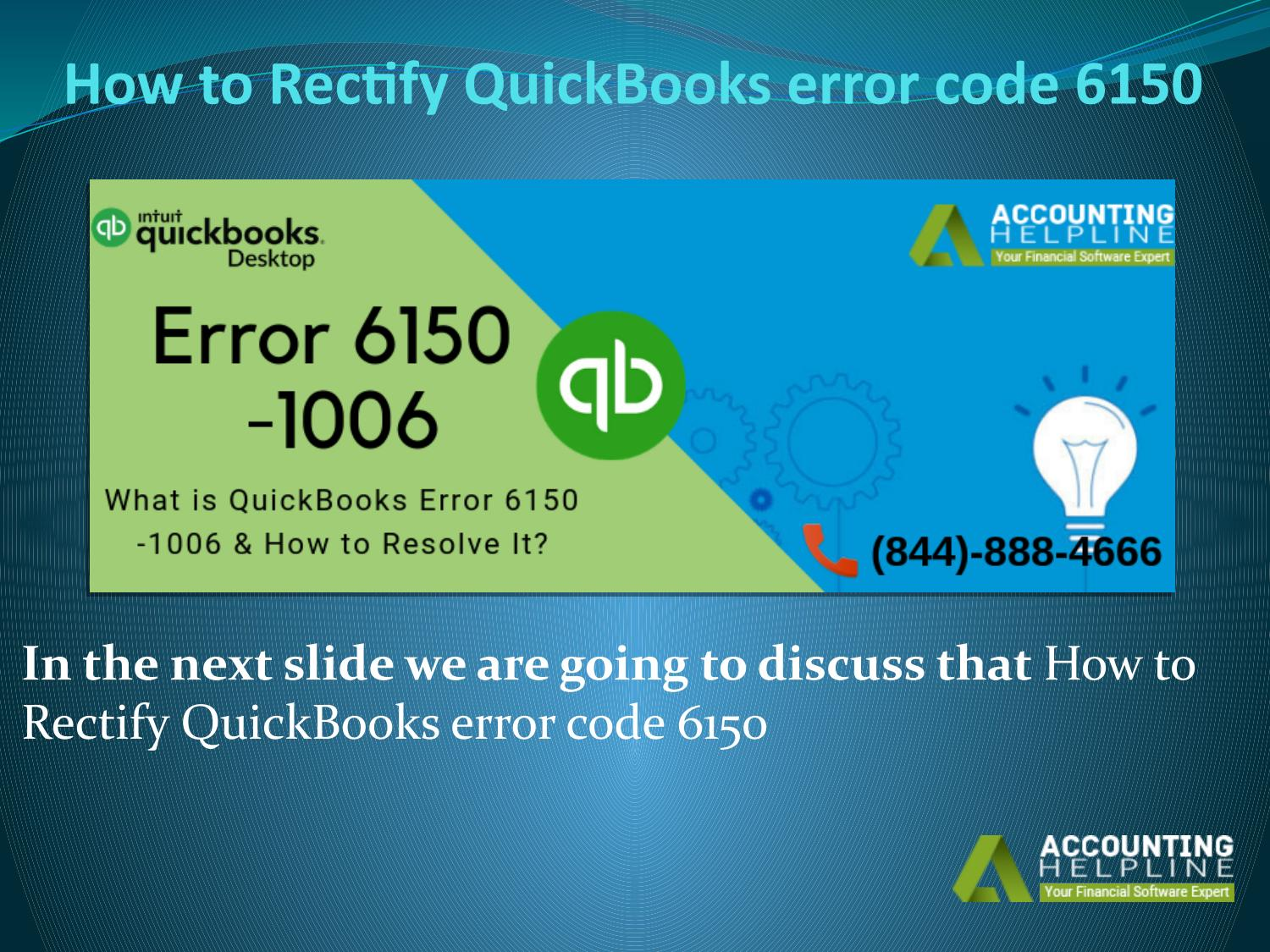 How to Fix Error Code 1006 in QuickBooks Desktop by