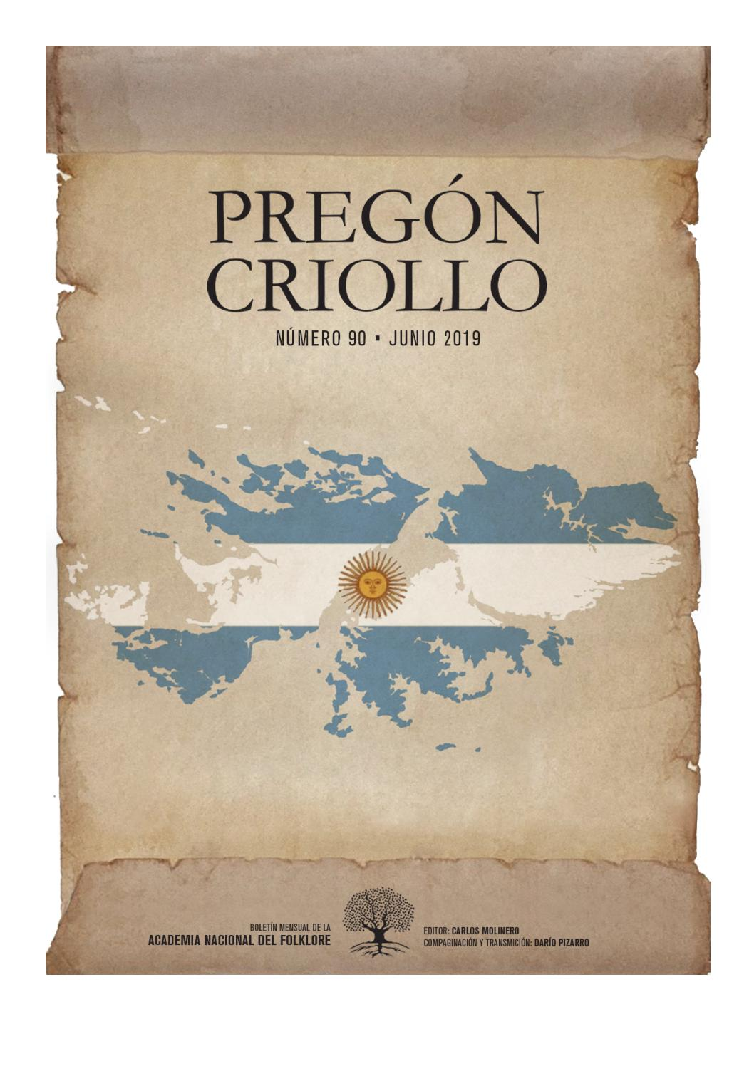 a98b132e9 Pregón Criollo Nº 90 - Junio 2019 by Academia Nacional del Folklore ...