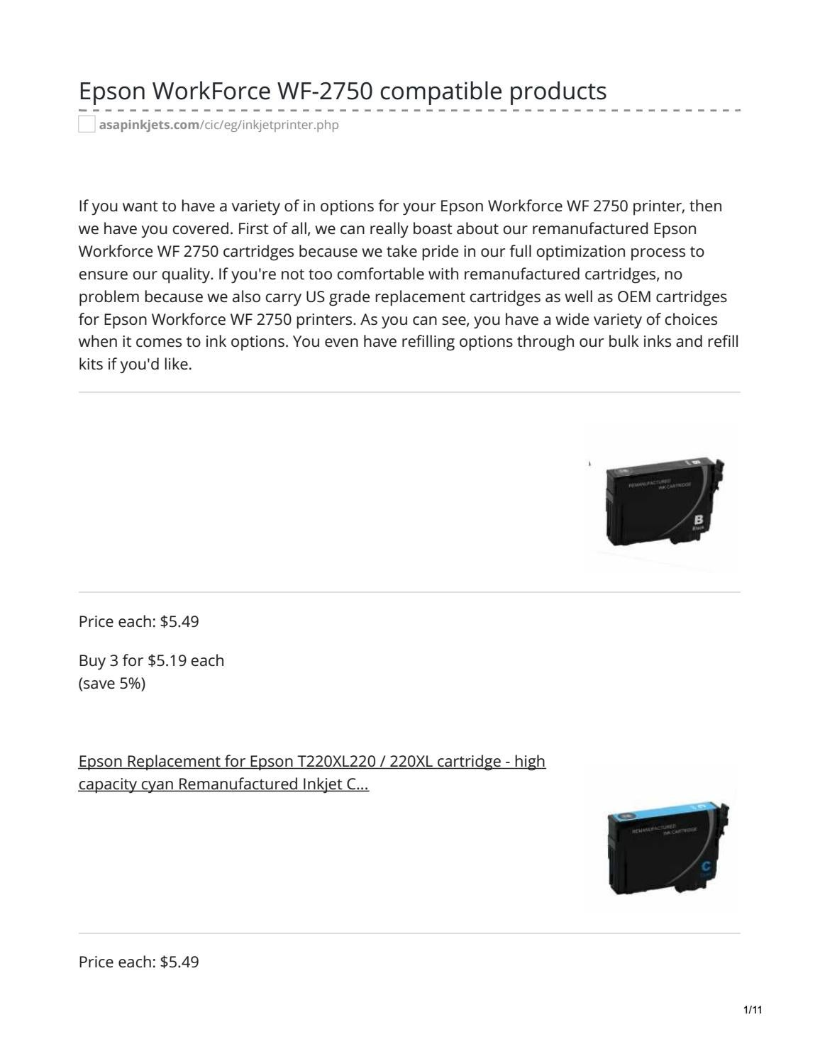 Epson WorkForce WF-2750 Ink Cartridges by Asapinkjetss - issuu