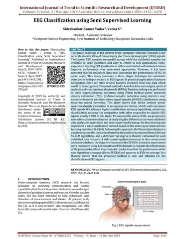EEG Classification using Semi Supervised Learning by