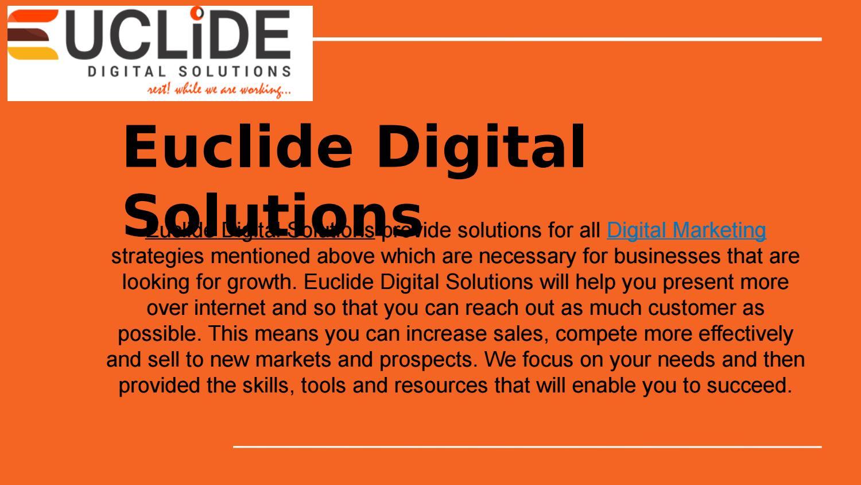 Digital Marketing Company in USA | Euclide Digital Solutions