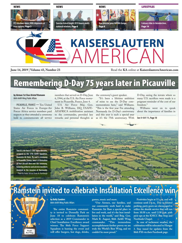 Kaiserslautern American — June 14, 2019 by AdvantiPro GmbH - issuu