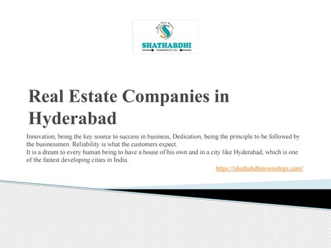 Top Real Estate Companies in Hyderabad by