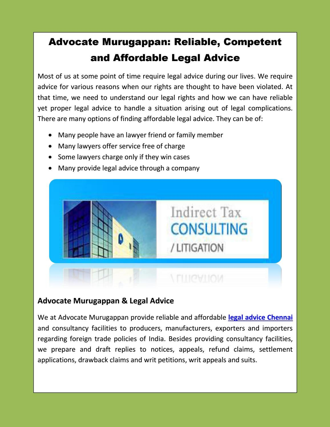 free legal advice over phone in chennai
