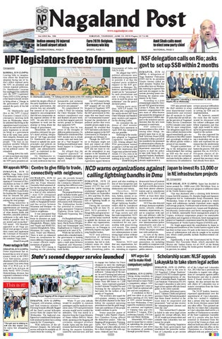 June 13, 2019 by Nagaland Post - issuu