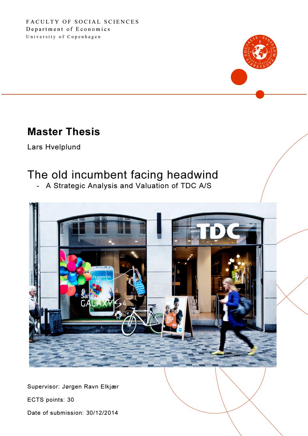 TDC  The old incumbent facing headwind by ??? Lars Hvelplund ...