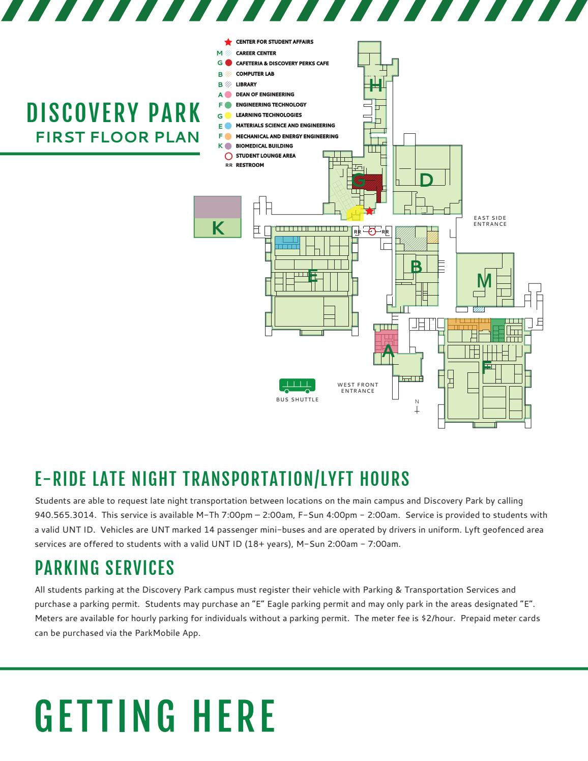 Discovery Park First Floor Plan