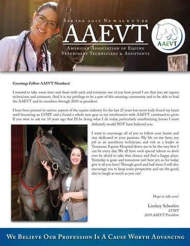 AAEVT Spring 2019 Newsletter by Deborah Reeder - issuu