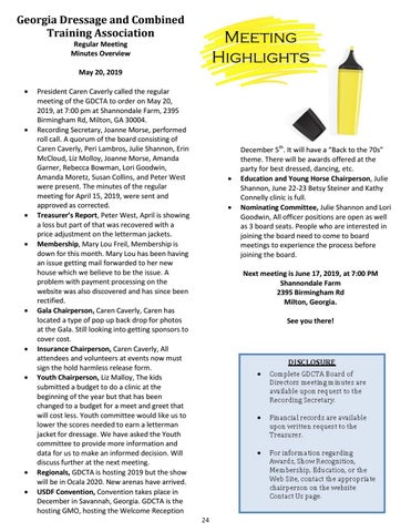 Page 24 of May Meeting Highlights