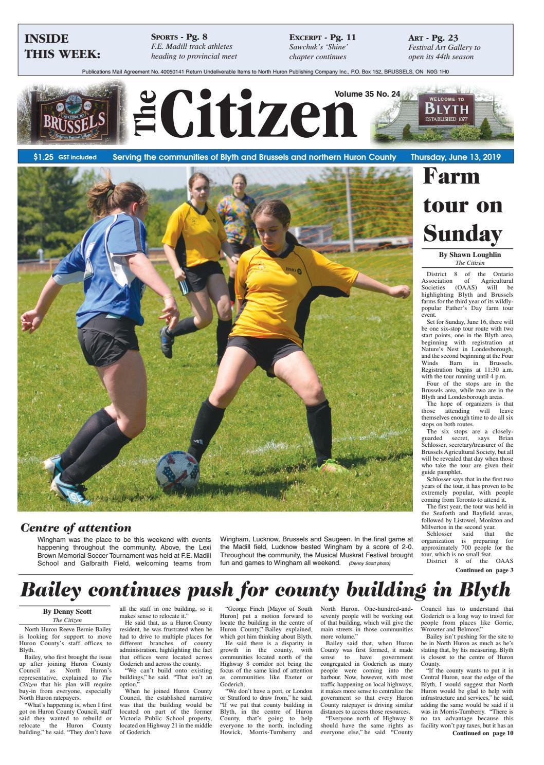 f1406c60a The Citizen - June 13, 2018 by North Huron Publishing Company Ltd ...