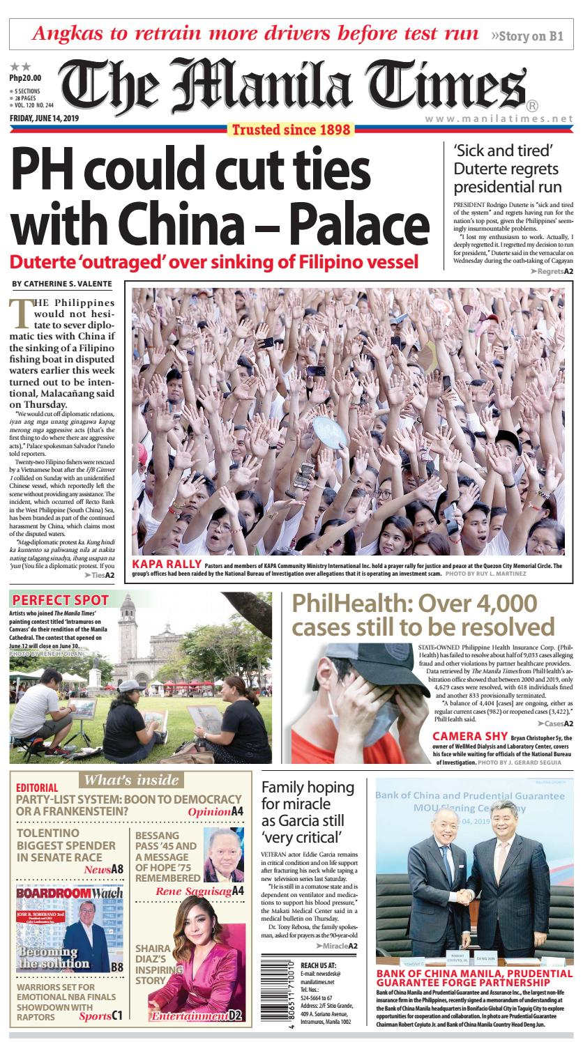 The Manila Times   June 14, 2019 by The Manila Times - issuu