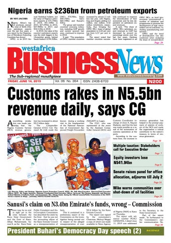 Westafrica BusinessNews Friday, June 14, 2019 by