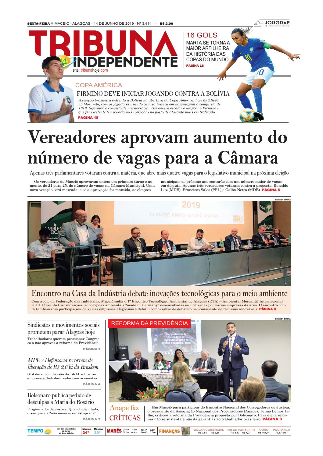 3e0d3d315 Edição número 3414 - 14 de junho de 2019 by Tribuna Hoje - issuu