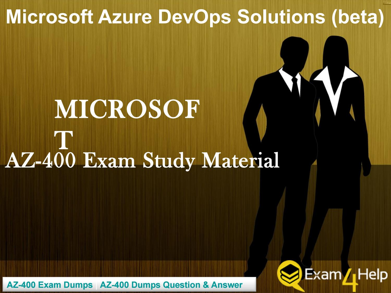 Download High quality Microsoft AZ-400 Exam Dumps by