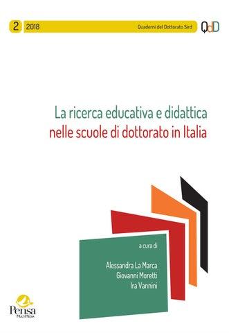 88c0a6b19e62 La ricerca educativa e didattica nelle scuole di dottorato in Italia –  2/2018