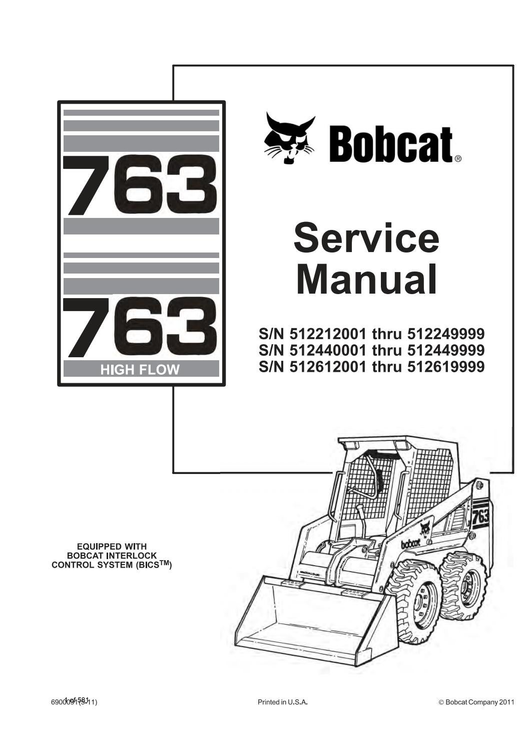 763 bobcat hydraulic schematic bobcat 763  763 high flow skid steer loader service repair manual  bobcat 763  763 high flow skid steer