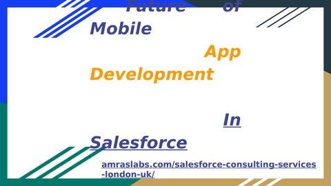 Salesforce Mobile App Development In London Uk