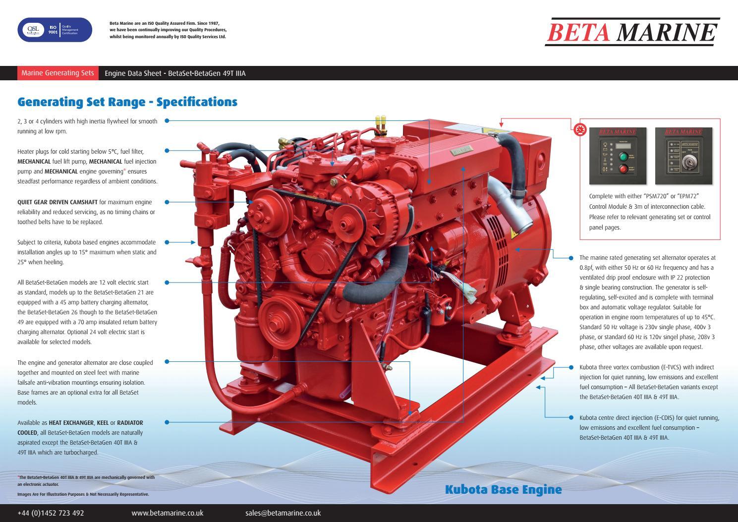 BetaSet-BetaGen 49T IIIA DataSheet REV-03 - 0619 by Beta Marine - issuu