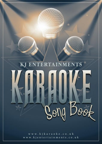 Kj Entertainments Karaoke Song Book Complete By Kj Entertainments