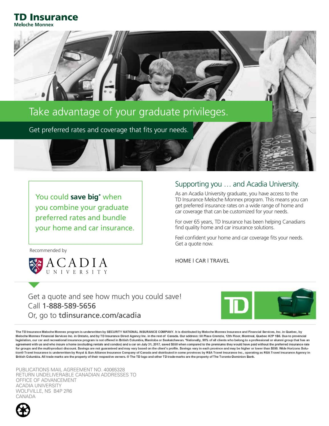 Acadia Bulletin - Spring 2019 by Acadia University - Issuu