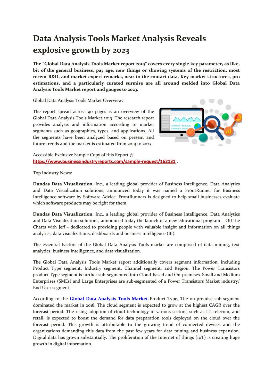 Data analysis tools market 30 by harshnagawade30   issuu