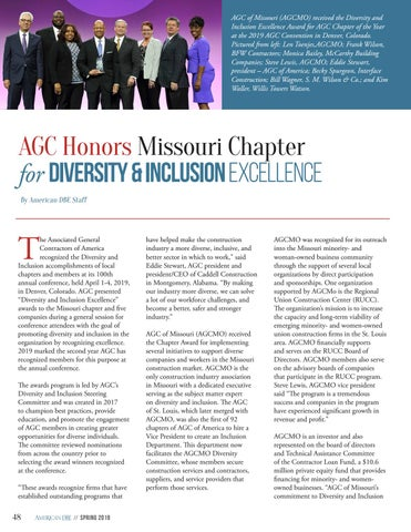 Page 48 of AGC Honors Missouri Chapter for Diversity & Inclusion Excellence
