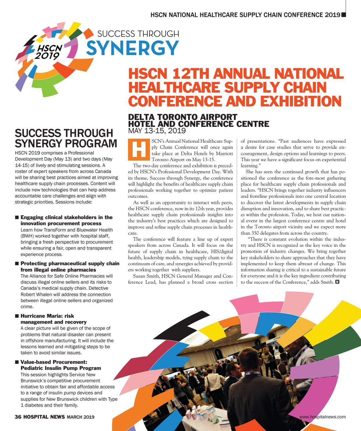 2019 HSCN Conference Supplement by Hospital News - issuu