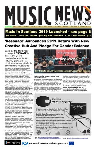 MUSIC NEWS Scotland