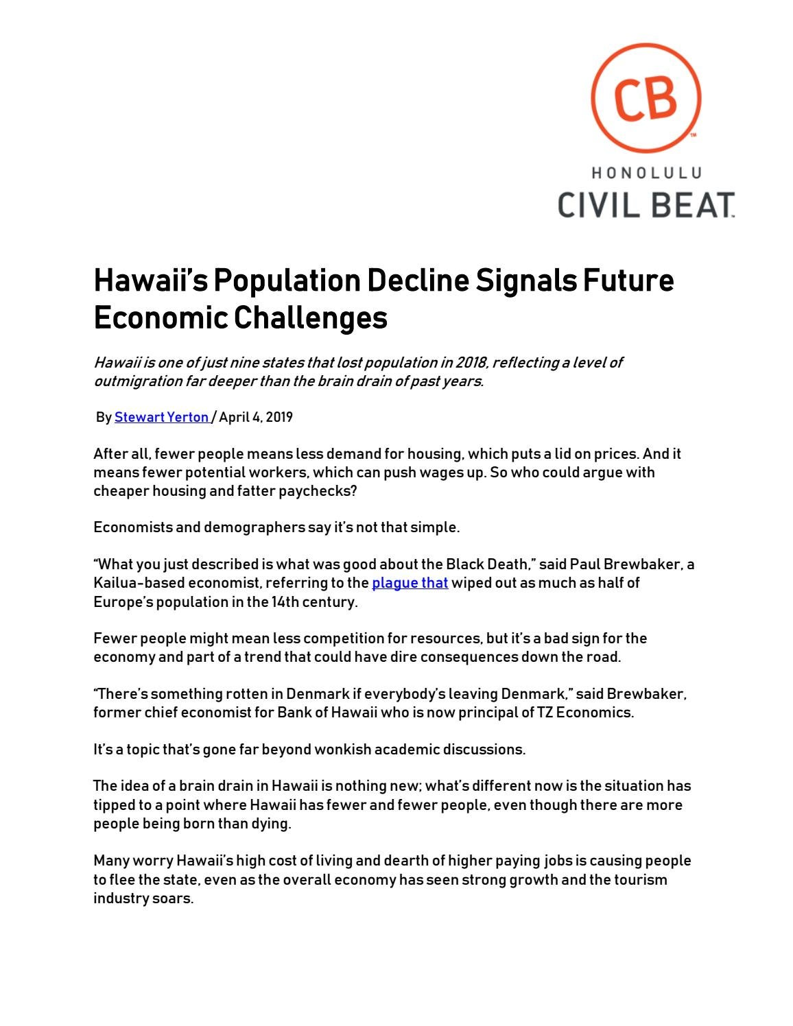 Hawaiis Population Decline Signals Future Economic Challenges