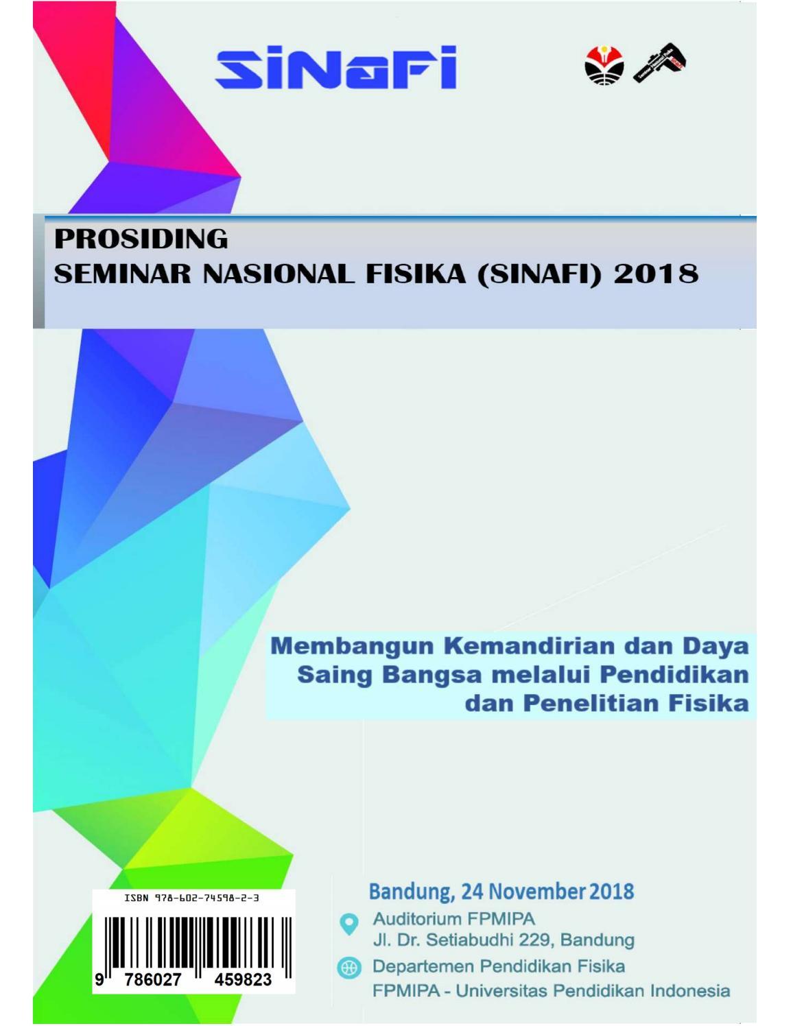 Prosiding Seminar Nasional Fisika SiNaFi Vol 4 No 1 2018