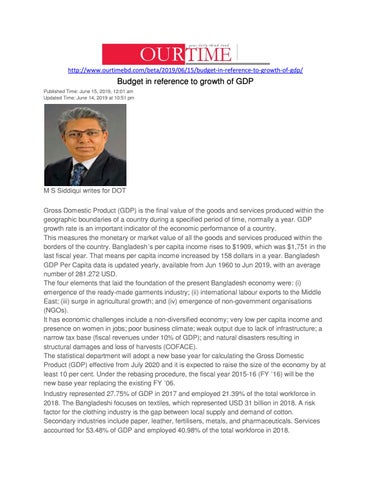 Budget in reference to growth of GDP by M S Siddiqui - issuu