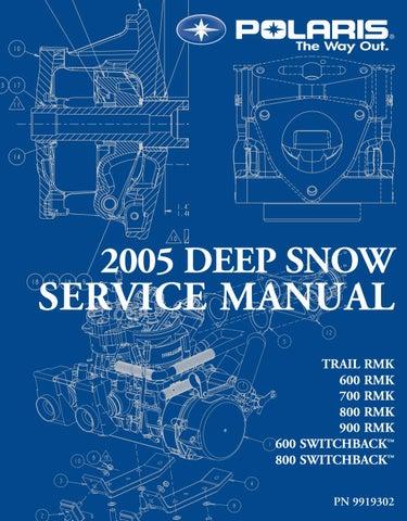2005 Polaris 900 Rmk 159 Snowmobile Service Repair Manual By 1634221 Issuu