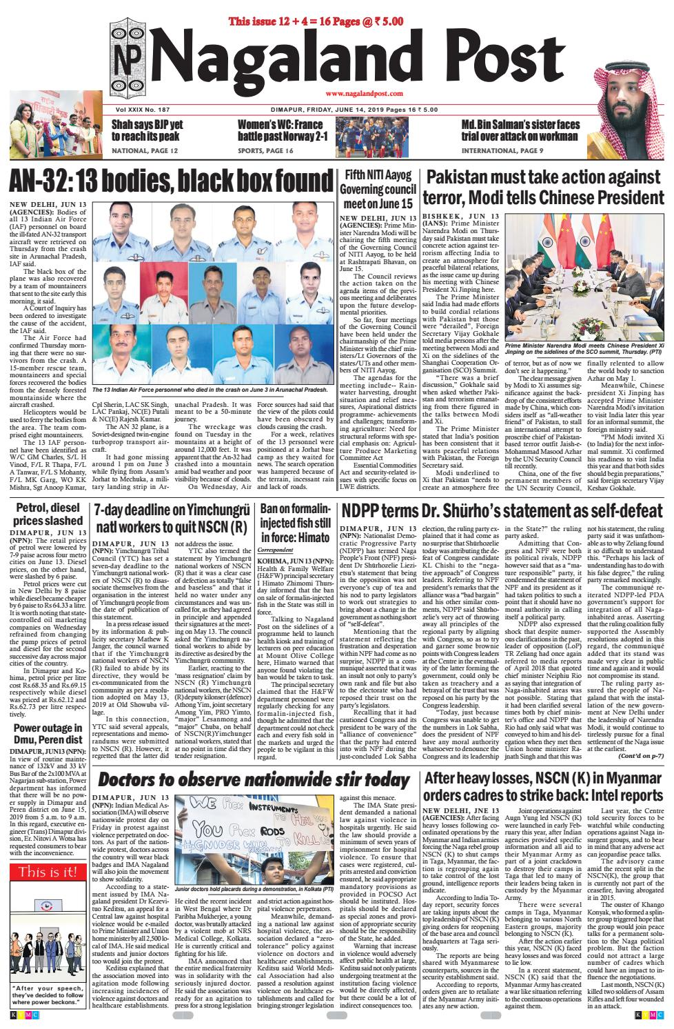 June 14, 2019 by Nagaland Post - issuu