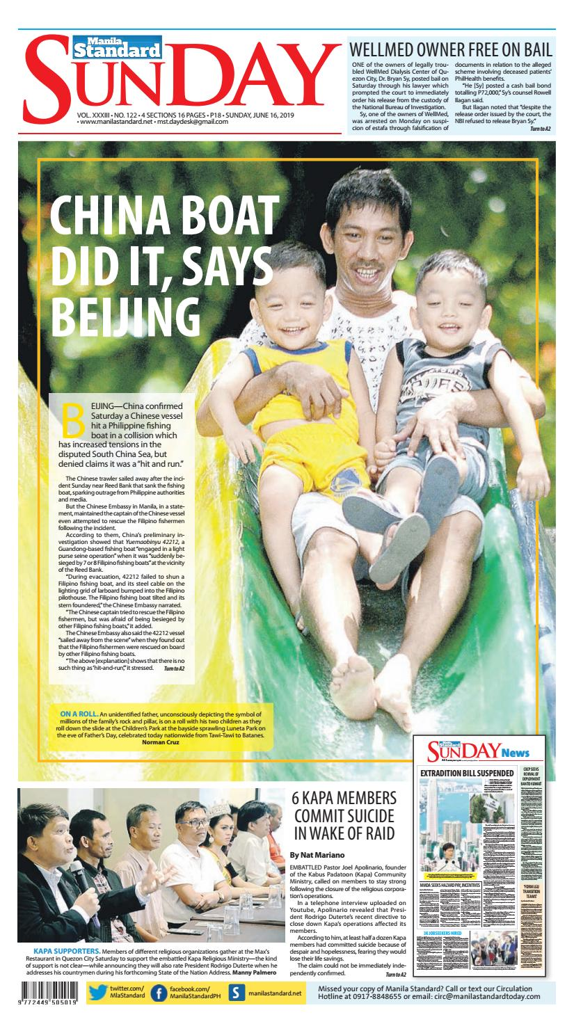 Manila Standard - 2019 June 16 - Sunday by Manila Standard