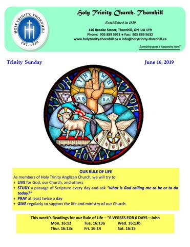 The Feast of The Holy Trinity by Holy Trinity, Thornhill - issuu