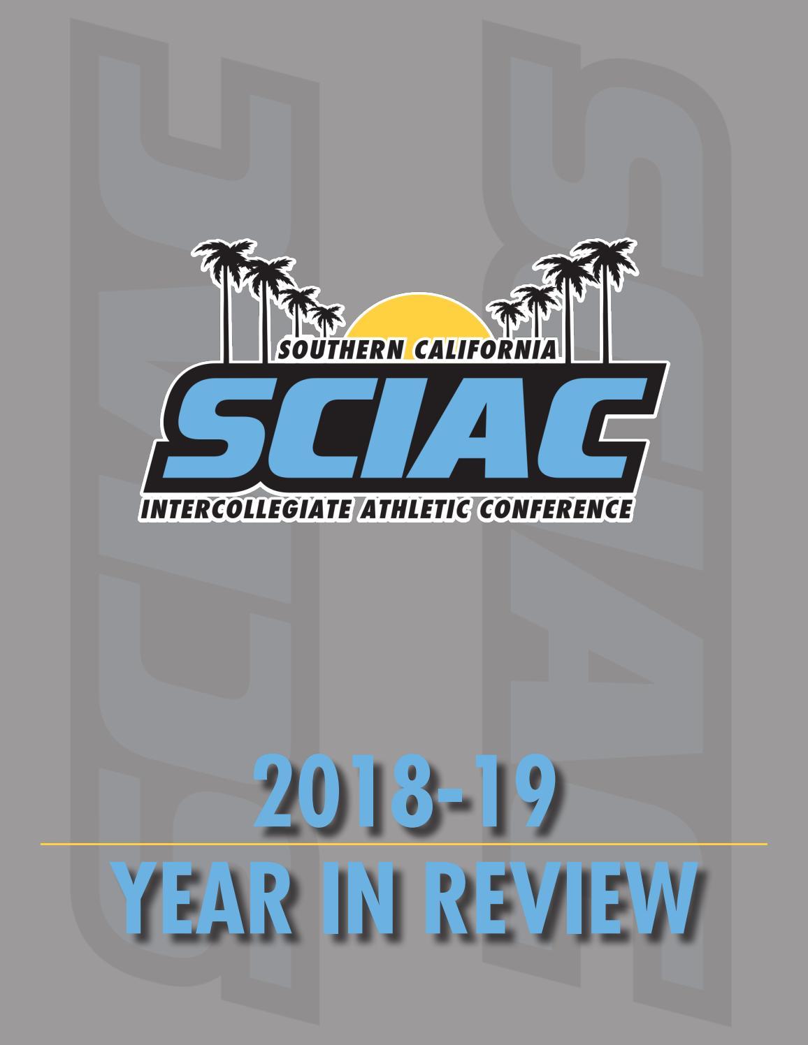 SCIAC 2018-19 Year in Review by SCIAC - issuu