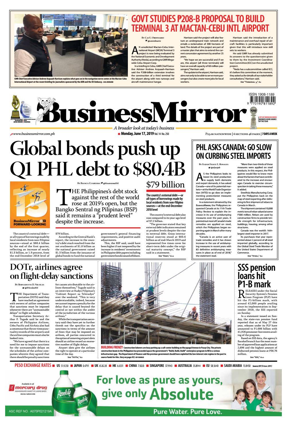 Businessmirror June 17, 2019 by BusinessMirror - issuu