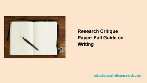 Research Critique Paper: Full Guide on Writing by Critique