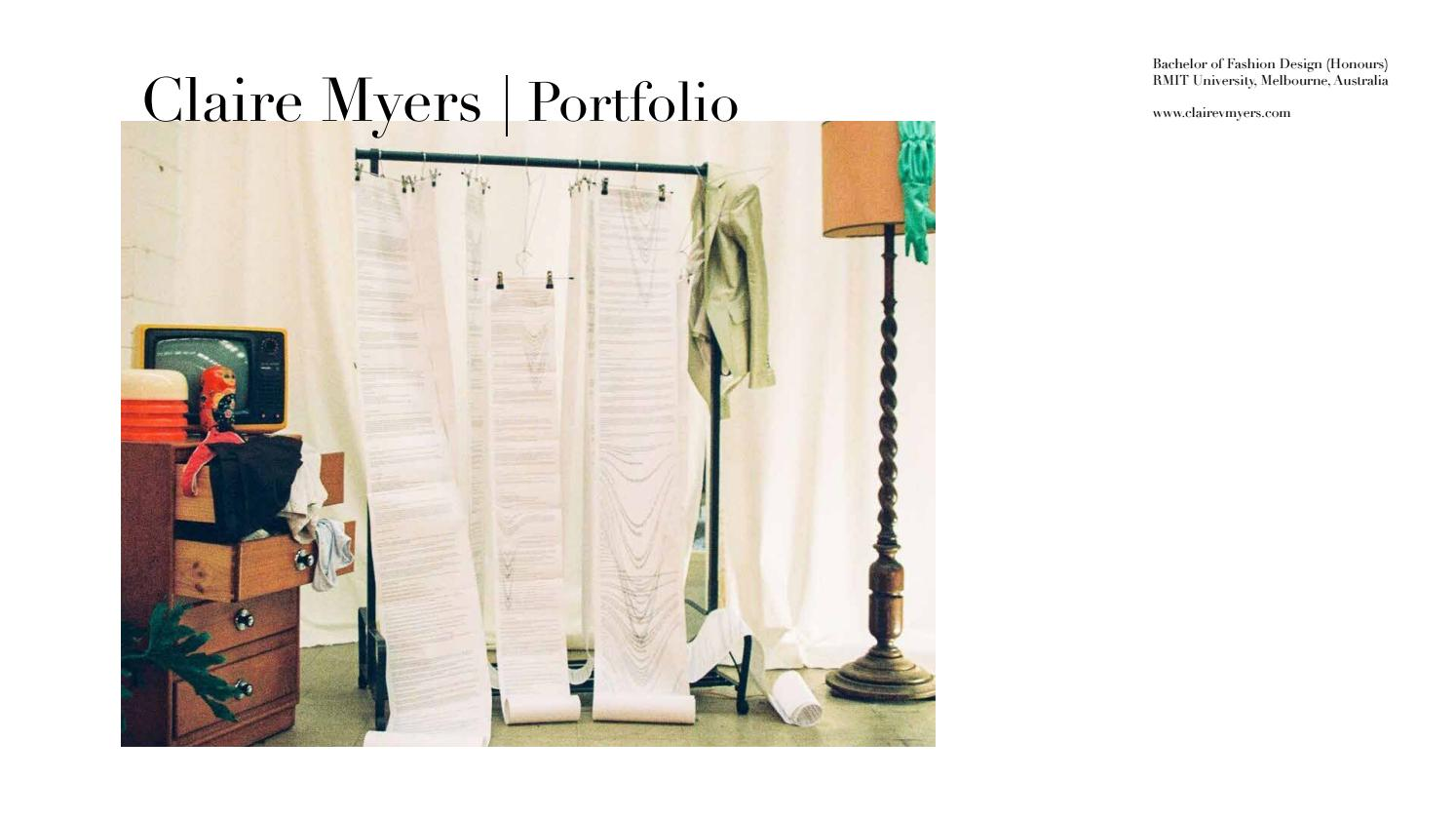 Claire Myers Fashion Design Portfolio By Clairevmyers Issuu